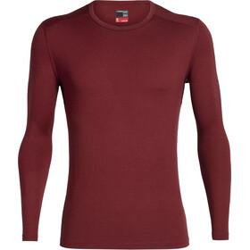 Icebreaker 260 Tech LS Crewe Shirt Herre cabernet
